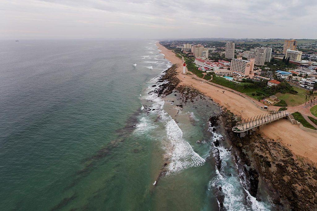Umhlanga pier aerial view